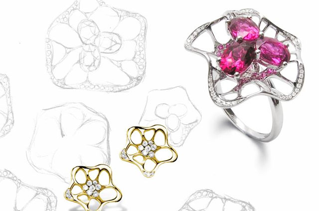 Fei Liu Allure ring and earrings