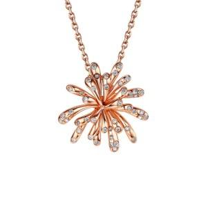 Celebration diamond 9ct rose gold pendant.