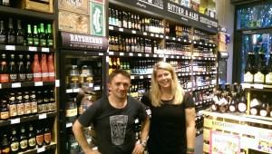Fabian Harrwich und ich im Craft Beer Store in Hamburg