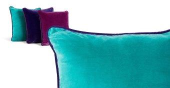 Mya velvet cushion in turquoise £35.00 - Made.com
