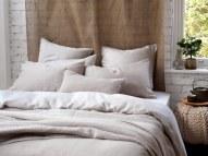 Relaxed denim natural linen bedding £65.00 - The Secret Linen Store