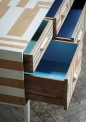 Dresser: Cabbage White®, St Giles Blue® & Blue Ground™ Estate® Eggshell. All Farrow & Ball.