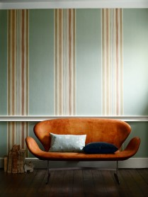 Merchant House Stripe wallpaper from the Arden collection at Zoffany