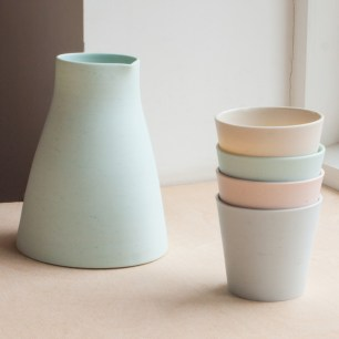 Hand thrown carafe and cups, carafe £70.00 / cups £24.00 each