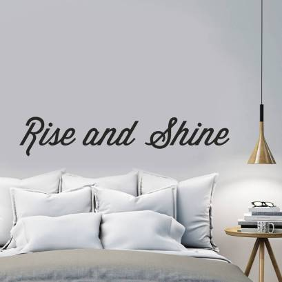 Rise and shine wall sticker by Oakdene Designs, £12.00 on Notonthehighstreet.com