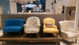Delightful armchairs by Loaf