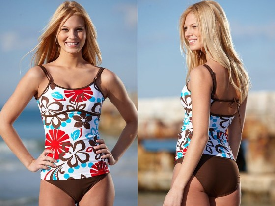 bf42962929e49 I picked a Metro S.O.S. Tankini and then had a choice of bottoms to match  it with. I, of course, picked the Hot-Shorts to match. Using the size chart  on the ...