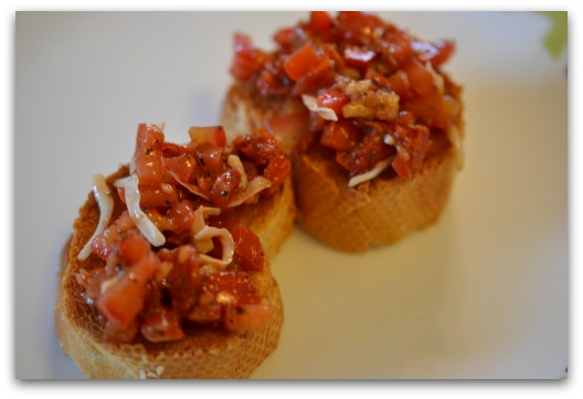 Double Tomato Bruschetta – Feisty Frugal & Fabulous