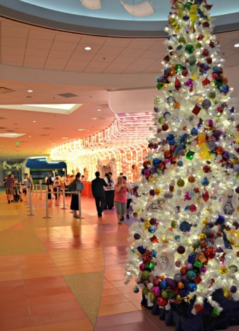 Christmas tree at Art of Animation