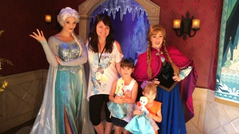 Anna and Elsa Frozen at Disneyland