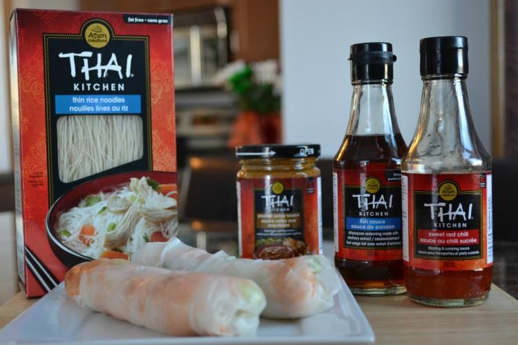 Chicken Satay Fresh Rolls