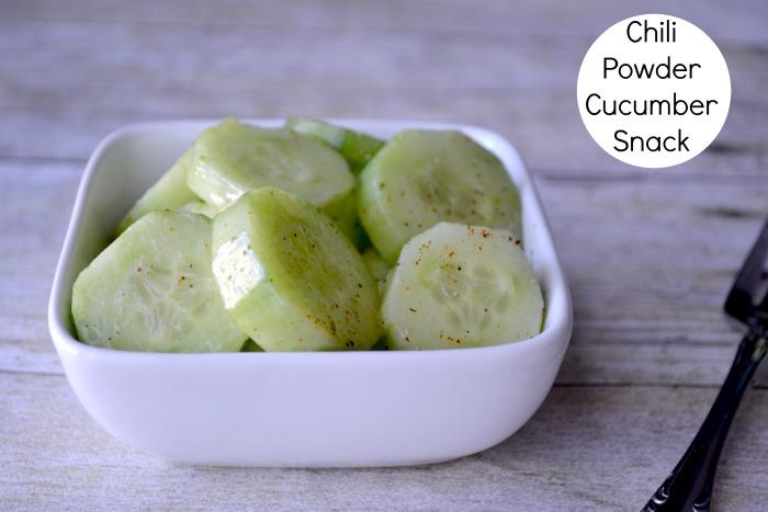 chili powder cucumber snack