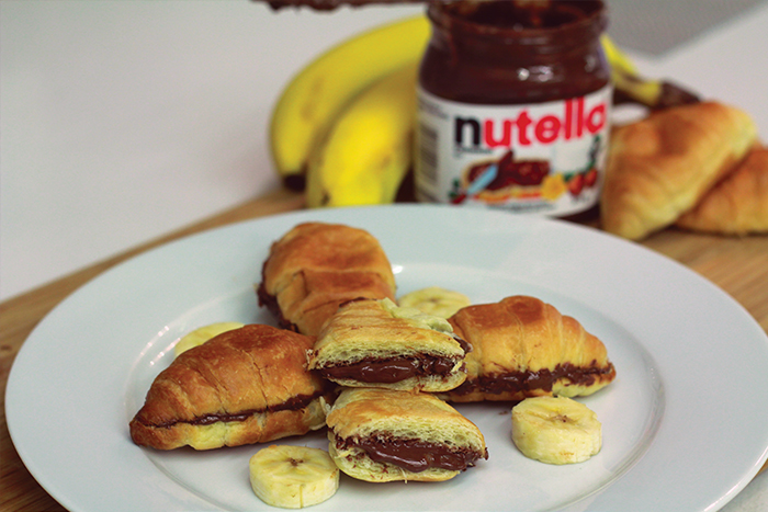 Nutella crescent rolls with banana