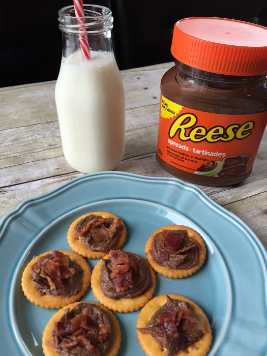 Peanut Butter Chocolate and Bacon Appetizers Recipe