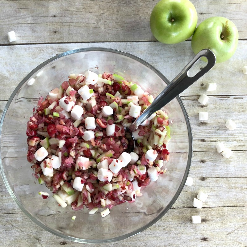 A delicious cranberry salad for your holiday table.
