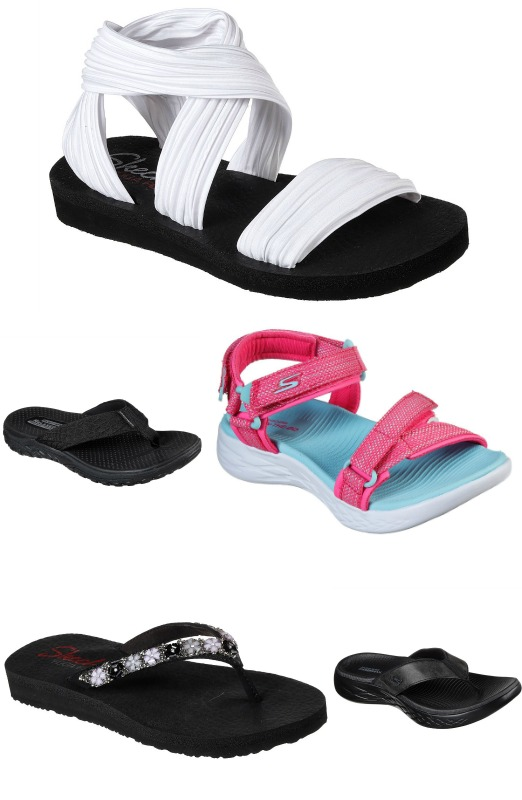bd4176aae Smooth synthetic upper in a casual comfort thong sandal design with  colorful gem daisy detail and Yoga Foam footbed.
