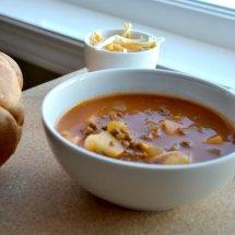 Spicy Hamburger Potato Soup