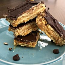 Layered Cracker Toffee Bars