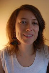 Bethany in Geometric Fan earrings