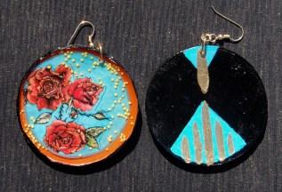 Garden earrings front & back