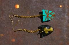 Leopard Chain earrings in Black