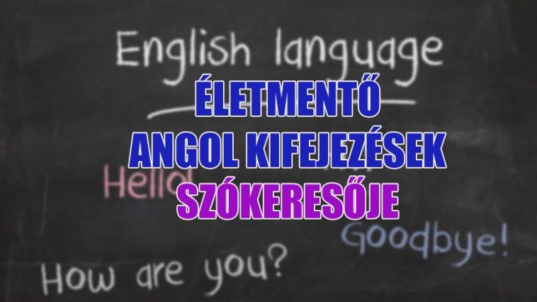 életmentő angol