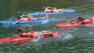 Rescue Board Race bei der Landesmeisterschaft. ÖWR Vorarlberg