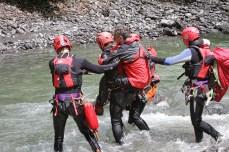 Teamwork mit der Bergrettung