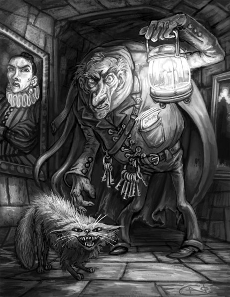 Filch and Mrs Norris, Digital