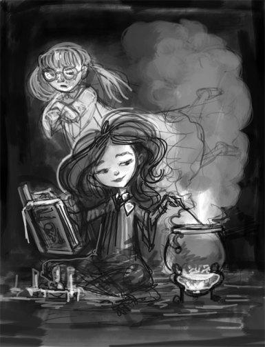 Hermione Mixing Polyjuice Potion, Digital