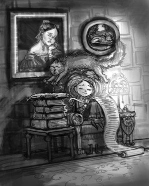 Hermione Doing Homework, Digital