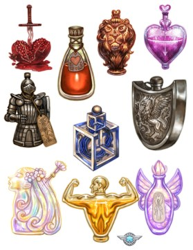 Miracle Pill Ingredients and Potion Icons ©Game Salute, Digital