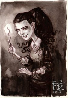 Young Bellatrix Black for Inktober
