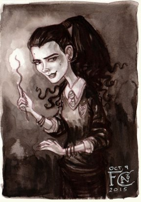 Young Bellatrix Black for Inktober