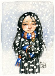 Cho Chang Sketch, Watercolor