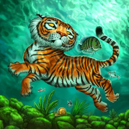 Fish Board for Tiger Stripes ©Game Salute, Digital