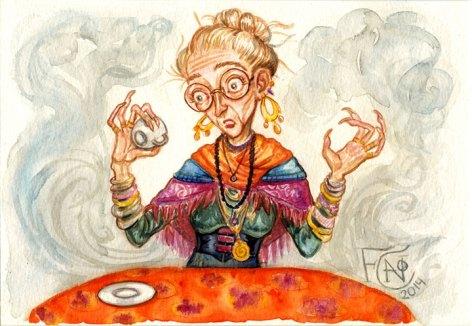 Professor Trelawney, Watercolor