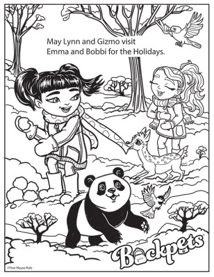 Coloring Book Page Winter Fun Digital ©Treehouse Kids