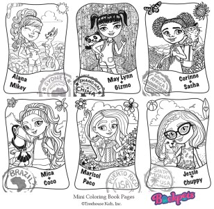 Mini Coloring Book Pages for Backpets Digital ©Treehouse Kids