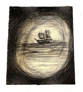 'It's a ship,' I said at first light, 'so do we meet them - or do we run?'