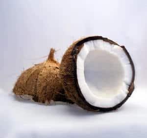image of broken coconuts