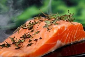 image of a raw fresh salmon meat