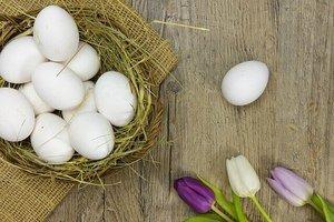image of white eggs