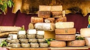 image of various cheeses
