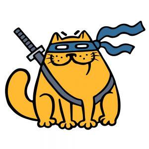 fat ninja cat