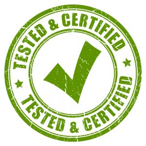Tested and certified