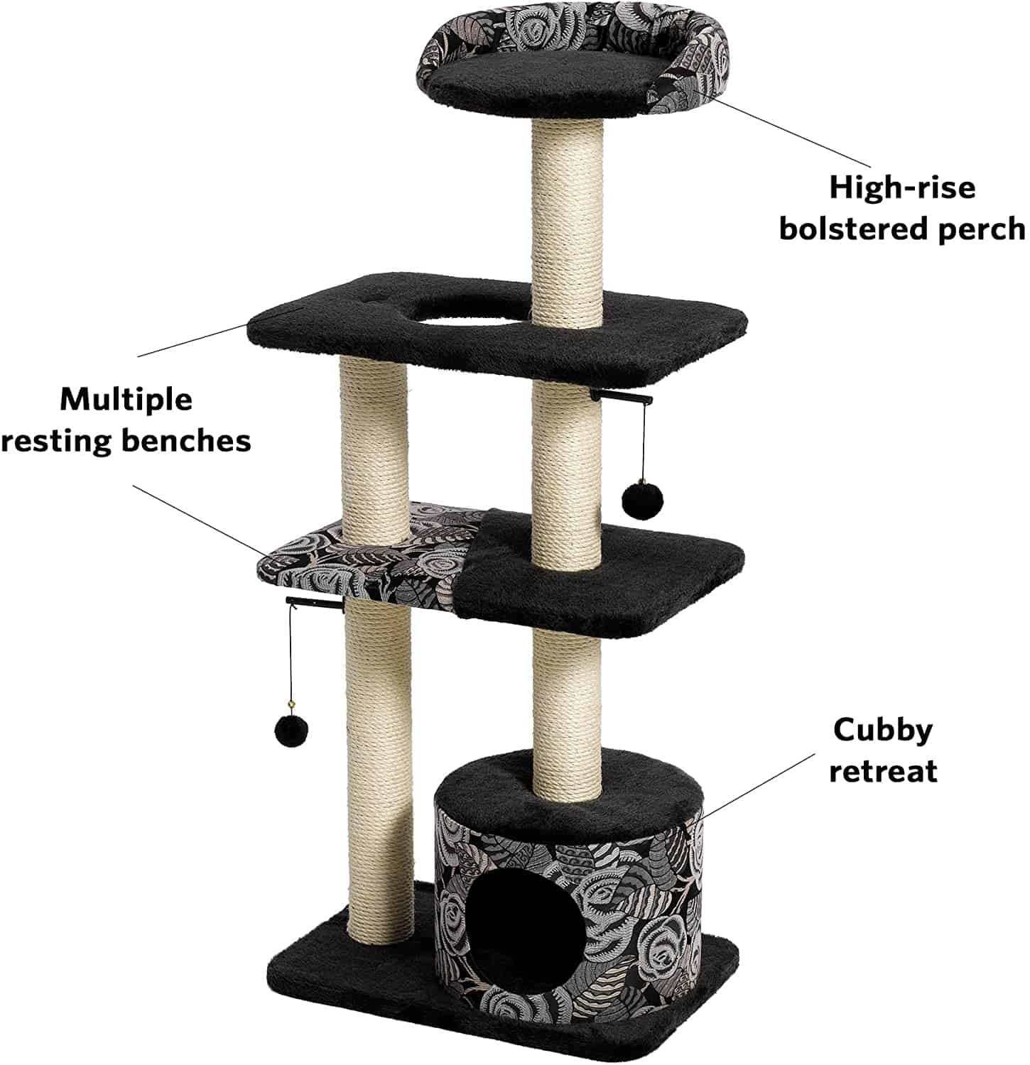 Best Cat Trees For Large Cats - Heavy Duty Big Sturdy Cat Towers [2020] 10