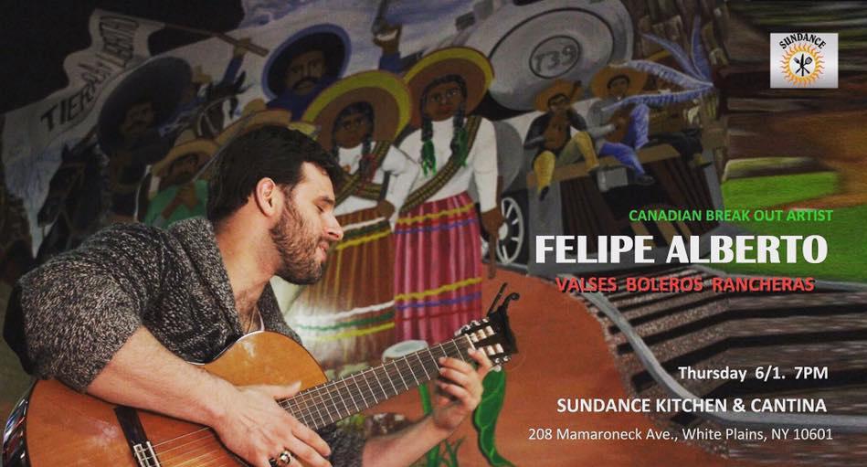 Felipe Alberto Performs at the Sundance Cantina