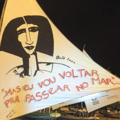 Jangada pintada por Beto Leão, que partiu este ano (Foto - FC)