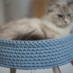 Legowisko ze sznura dla kota